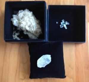 Rough diamonds or crystals or broken glass