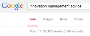 Innovation management advice google hits